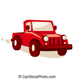 Cartoon jeep,  illustration