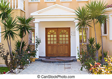 Classical entrance of a luxury house