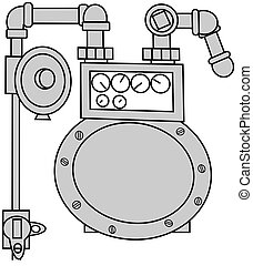 Gas Meter Set - This illustration depicts a gas meter set...