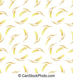 Vector seamless pattern, agriculture. - Hand drawn bakery...