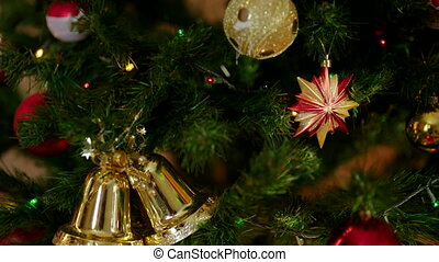 A letter to Santa Claus is lying among Christmas gifts -...