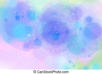 Abstract colorful watercolor for background. Digital art...