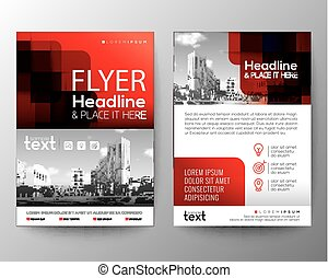 Red Brochure cover Flyer Poster design template