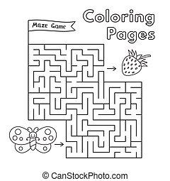 Cartoon Butterfly Maze Game