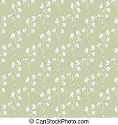 Hand drawn floral seamless pattern - Hand drawn spring green...