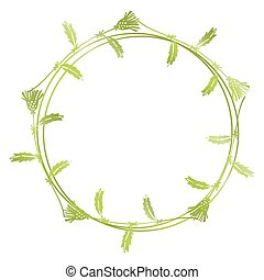 Hand drawn floral wreath - Hand drawn spring floral wreath...