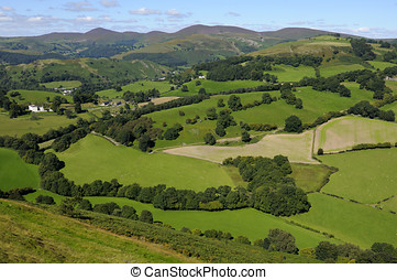 Castell Dinas Bran - View from Castell Dinas Bran above...