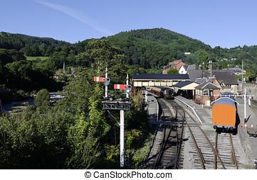 Llangollen - View of Llangollen in Denbighshire Wales UK