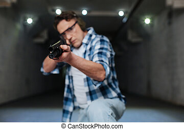 Serious skilled marksman shooting at you - Being a target....