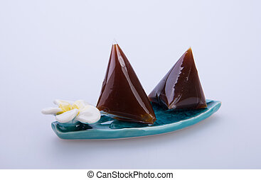 dodol or malaysia traditional candy on the background. -...