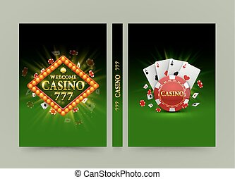 Casino banner book. A4 size paper, Template design element,...