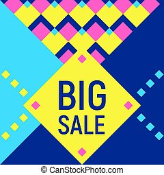 Big sale abstract background, neon memphis style - Abstract...
