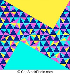 Abstract geometric background, neon memphis style - Abstract...
