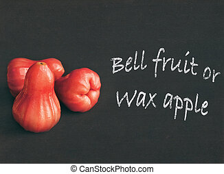 Wax apple or bell fruit - Rose apple or chomphu isolated on...