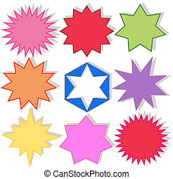 star shapes in different colours