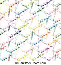 Multicolor grunge grid on a white background - Seamless...