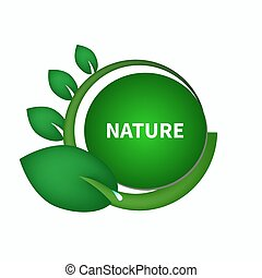 Sticker for natural products