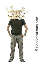 Man with Crab Mask