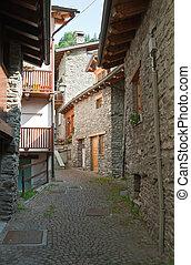 stone homes in La Thuille