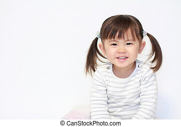 smiling Japanese girl (2 years old)