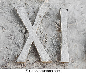 Roman numerals sculpture showing the number