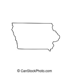 map of the U.S. state Iowa. Vector illustration