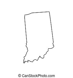 map of the U.S. state Indiana
