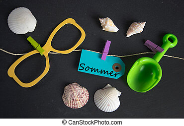 Sommer - german word for summer - summer vacation concept