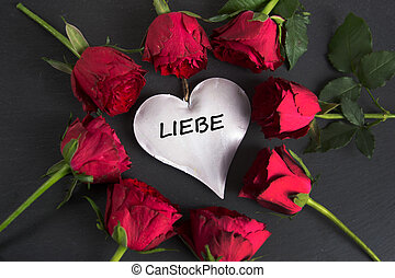 Liebe - the german word for love - nice background with...