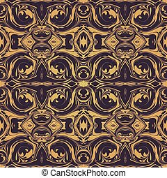 vector abstract ebru marbling background - vector gold...