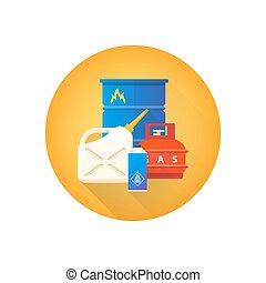vector combustible hazardous waste icon - vector colorful...