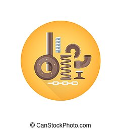 vector metal scrap waste icon