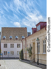 Ystad Street Scene - Street scene from the Swedish town of...