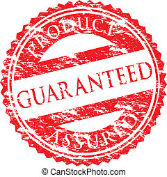 guaranteed logo - grunge guaranteed logo
