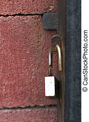 Padlock on closed gates