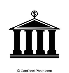 banking building vector icon simple on white background