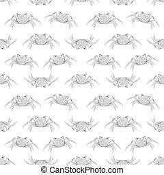Pop Art Style Crabs Motif Seamless Pattern - Conversational...
