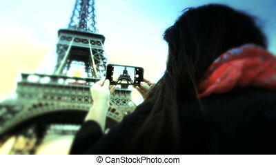 Tourist in Paris - Shot of Tourist in Paris