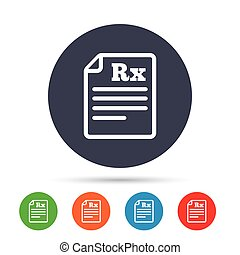 Medical prescription Rx sign icon. Pharmacy. - Medical...