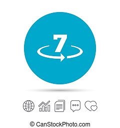 Return of goods within 7 days sign icon. Warranty exchange...