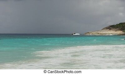 african island beach in indian ocean - travel, seascape and...