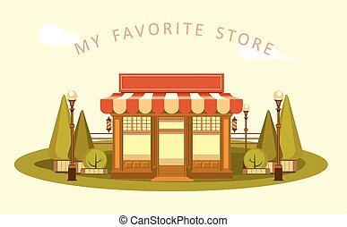 Ice cream store - Vector clipart Fun and leisure park facade...