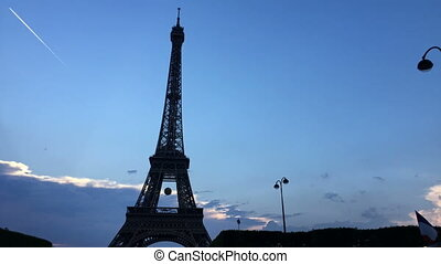 Timelapse of The Eiffel Tower - Shot of Timelapse of The...