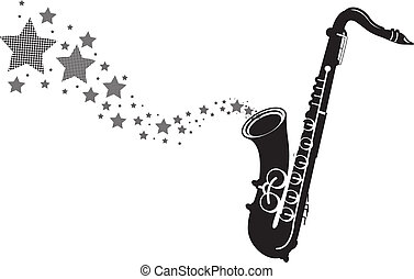saxophone with stars
