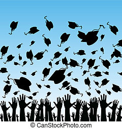 Students Graduating - An image of students graduating