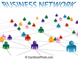 Business Network - An image of a business network