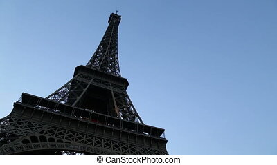 The real and replica Eiffel - Shot of The real and replica...