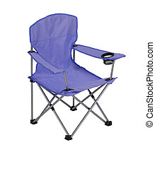 Fishing camp-chair isolated on the white background. The...
