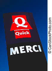 "Łańcuch, restauracja, ""quick"", Noc, Burgers, znaki,..."