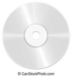 CD Compact Disc Illustration - CD - compact disc - realistic...